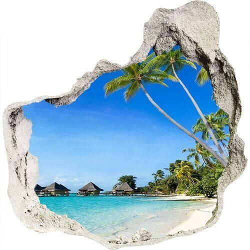 Dziura 3d w ścianie naklejka cegła Malediwy