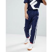 Fila Black Line Joggers With Taping In Navy - Navy