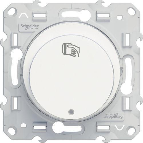 Łącznik hotelowy podtynkowy podświetlany Schneider Odace S520283 biały, S520283