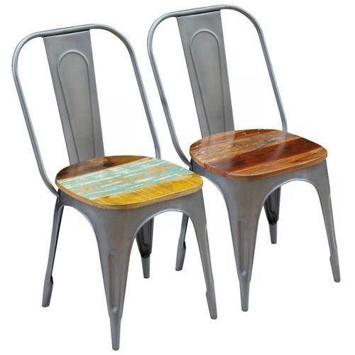 Krzesło do jadalni 2 szt. z drewna odzyskanego 47x52x89 cm