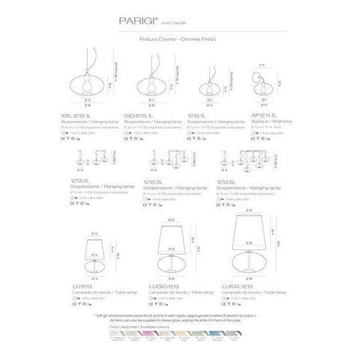 Cangini & Tucci Plafon Parigi Palla (szkło ryflowane) - R1209MX.3L, kolor transparetny