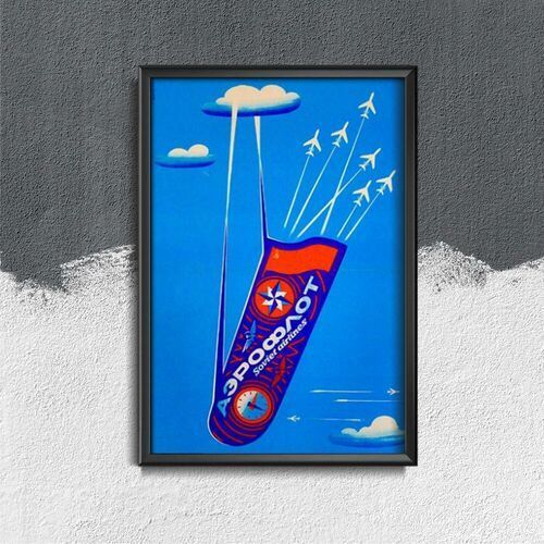 Plakat w stylu vintage plakat w stylu vintage aeroflot sovier airlines cccp marki Vintageposteria.pl