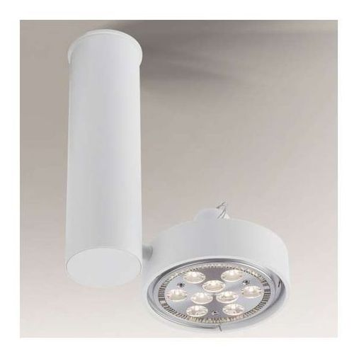 Reflektorowa LAMPA sufitowa NATORI 2208/GU10/BI Shilo regulowana OPRAWA metalowa SPOT tuba biała, kolor Biały