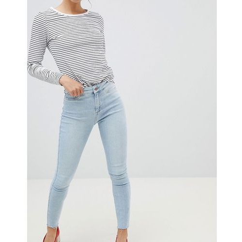 New Look Vanessa Super Skinny High Rise Frayed Hem Jean - Blue