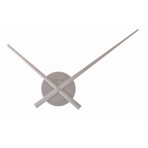 NeXtime - zegar ścienny Mini Hands 48 cm - srebrny, kolor szary