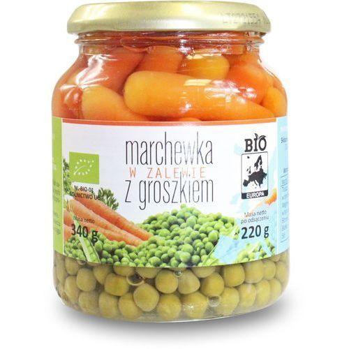 Marchewka w zalewie z groszkiem w słoiku bio 340 g (220 g)- bio europa marki Bio europa (strączkowe, kukurydza w puszkach, miód