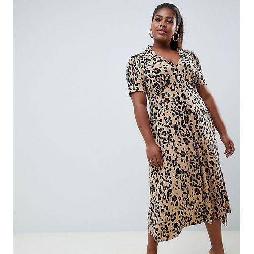 Asos curve Asos design curve animal print midi tea dress - multi