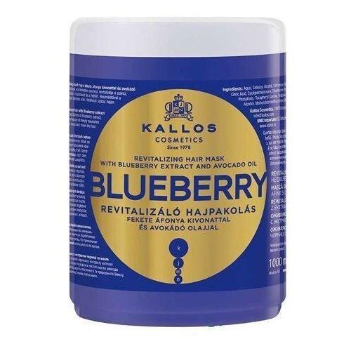 Kallos kjmn blueberry rewitalizująca maska do włosów z ekstraktem z jagód i lejem avokado 1000ml