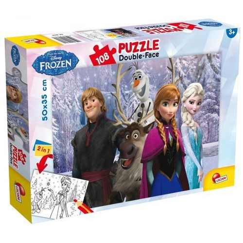 Puzzle 108 dwustronne Frozen. Kraina lodu