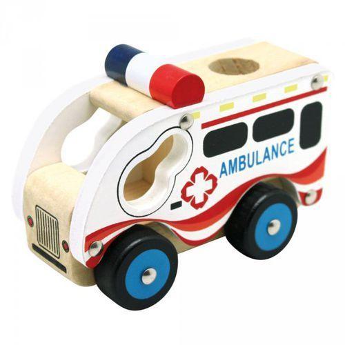Autko drewniane - ambulans marki Bino