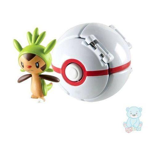 Pokemon premier ball throw 'n' pop z figurką chespin marki Tomy