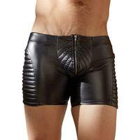 Męskie spodenki w motocyklowym stylu, Kolor: Black, Rozmiar: Medium, 09 2132303
