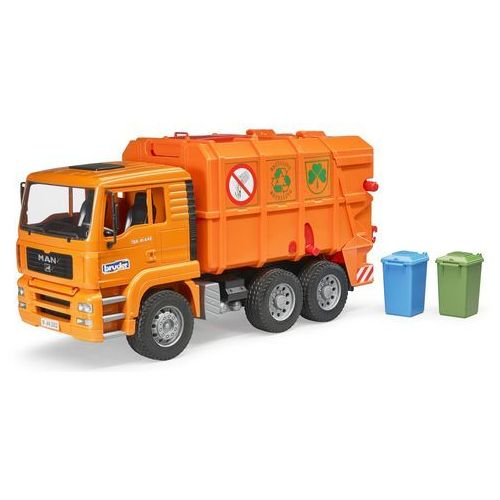Bruder Man śmieciarka z tylnym załadunkiem pomarańczowa 02760 (4001702027605)