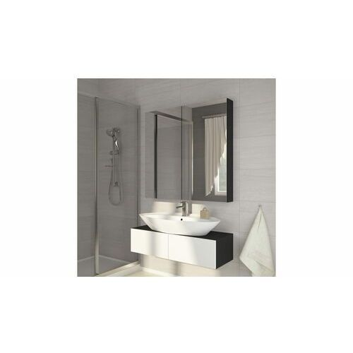 Szafka łazienkowa z lustrem Della 100 czarna (5904341367943)