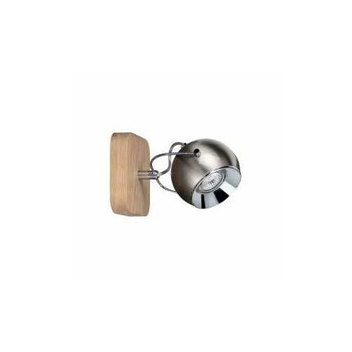 Spot Light Ball wood 5131174 kinkiet lampa ścienna 1x6W GU10 drewno/szary