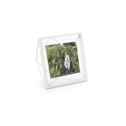 - ramka na zdjęcia prisma 4 x 4 - miedziana - biały marki Umbra