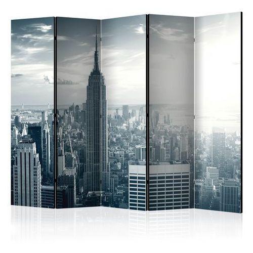 Artgeist Parawan 5-częściowy - widok na nowojorski manhattan o świcie ii [room dividers]