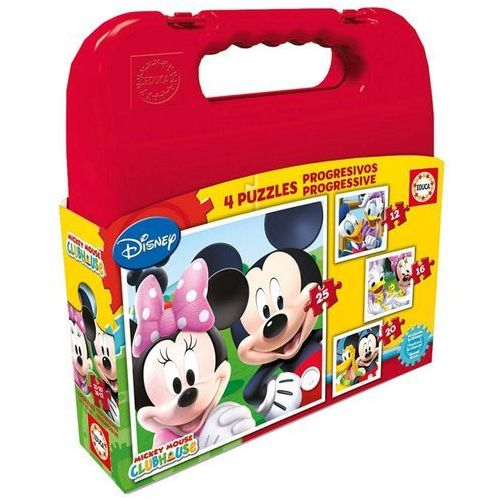 Educa Walizka puzzle mickey mouse club house 12+16+20+25 elementów