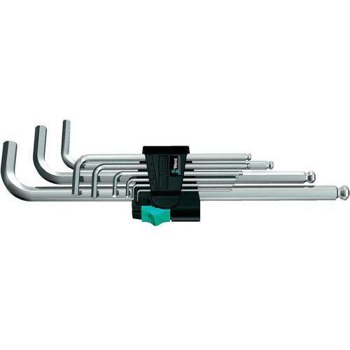 Wera Zestaw kluczy imbusowych 9 szt. 950 pkl/9 sm n wewnętrzny sześciokąt 05022087001 (4013288104816)