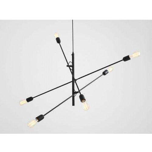 Customform Lampa sufitowa industrialna twigo 6 - kolor czarny