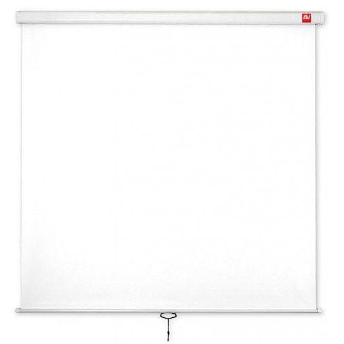 Avtek  ekran ścienny ręczny wall standard 175/1:1/175x175cm/matt white - bez zakładania konta - ekspresowe zakupy!