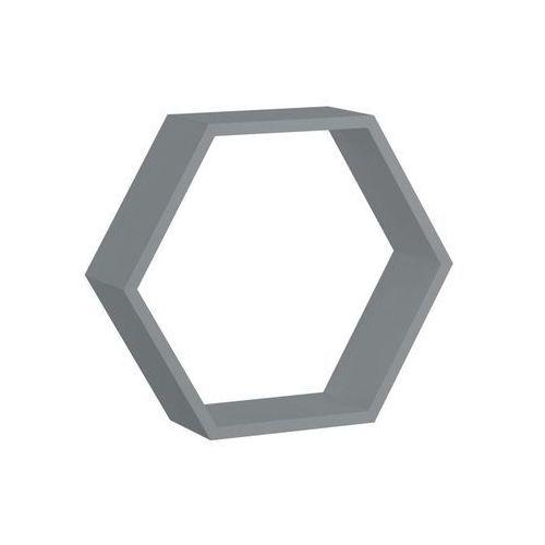 Spaceo Półka ścienna hexagon szara 30 x 26 cm