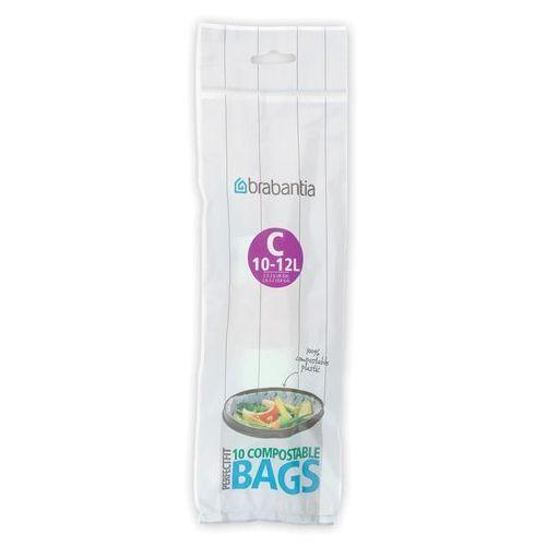 Worki na śmieci perfectfit bags biodegradowalne rozmiar c 10-12l 10 szt marki Brabantia