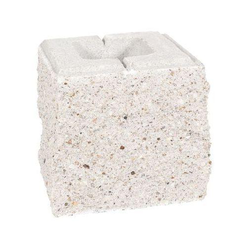 Pustak ścienno-cokołowy 20 x 19.5 x 19 cm betonowy trzystronnie łupany skała lubuska marki Ziel-bruk