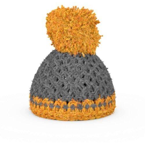 - czapeczka na podstawkę do jajek - szaro-pomarańczowa marki 58products