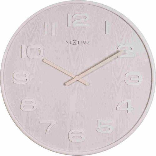 Nextime zegar ścienny biały - 'wood wood medium'