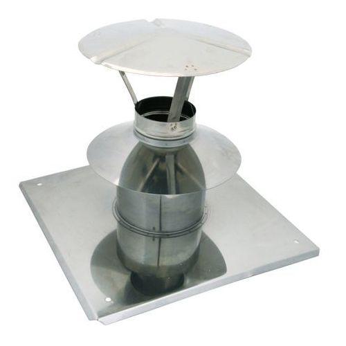 Spiroflex Wywiewka z płytą dachową 60/100 mm biała (5907520944195)