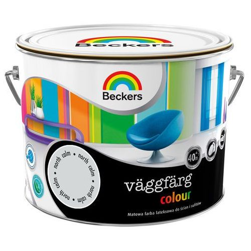 Farba lateksowa Beckers Vaggfarg Colour north calm 2,5 l, 8448968008