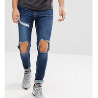 Brooklyn Supply Co Muscle Fit Jeans Ripped Mid Wash - Blue, jeansy