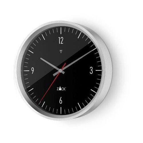 Zegar Zack Vida sterowany radiowo 24 cm czarny, kolor czarny