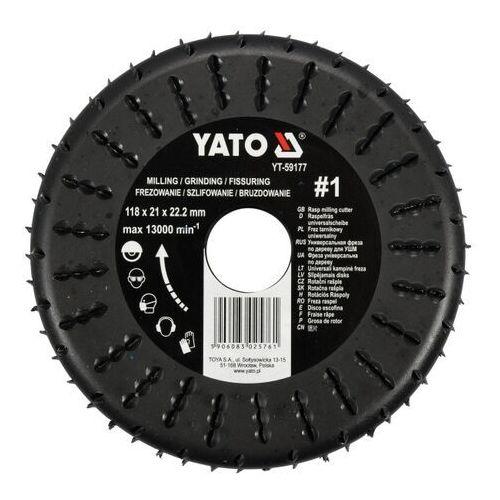 Frez tarnikowy uniwersalny do drewna 118mm Yato YT-59177 - ZYSKAJ RABAT 30 ZŁ (5906083025761)