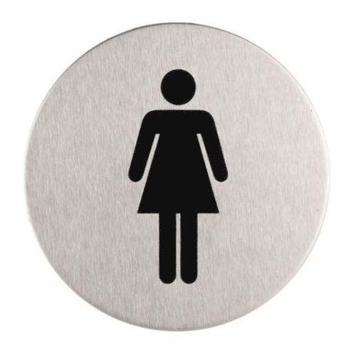 Sanitario Oznaczenie toalet metalowe okrągłe - wc damskie (5902767346658)