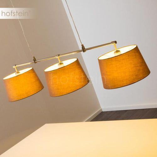 Hofstein Placentia lampa wisząca nikiel matowy, 3-punktowe - nowoczesny - obszar wewnętrzny - placentia - czas dostawy: od 6-10 dni roboczych (4058383008829)