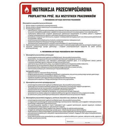 Instrukcja przeciwpożarowa - profilaktyka ppoż, dla wszystkich pracowników marki Top design. Najniższe ceny, najlepsze promocje w sklepach, opinie.