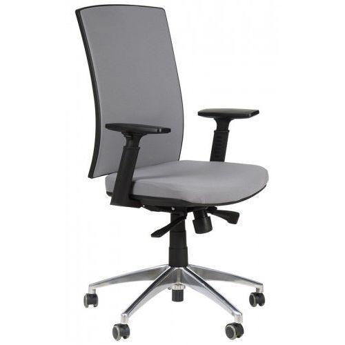Krzesło biurowe obrotowe z podstawą aluminiową kb-8922b/alu/szary, fotel biurowy marki Stema - kb