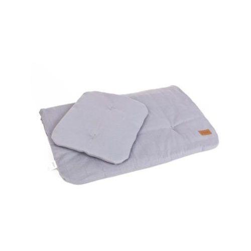 Pościel bawełniana organic - kolor popiel - (wymiary: kołdra 60x70 cm, poduszka: 25x30 cm) - marki Poofi