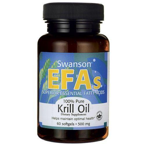 Olej z kryla antarktycznego 500mg 100% pure Krill Oil 60 kapsułek SWANSON z kategorii Pozostałe kosmetyki