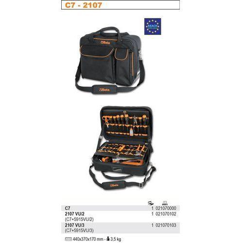 TORBA NARZĘDZIOWA 2107/C7 Z ZESTAWEM 49 NARZĘDZI, MODEL 2107VU/2