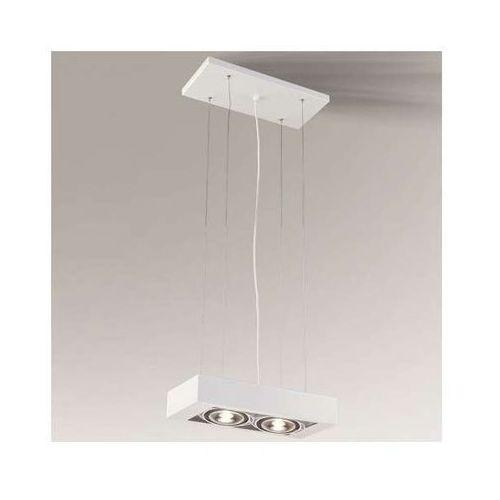 Shilo Lampa wisząca koga 5613/g53/bi minimalistyczna oprawa regulowana zwis biały (1000000346077)