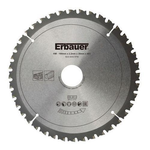 Tarcza uniwersalna Erbauer 190 x 30/20/16 mm 40T, SCT92654