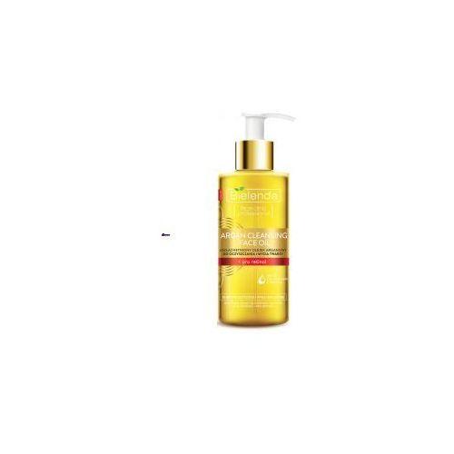 argan cleansing face oil (w) olejek do mycia twarzy z pro-retinolem 140ml marki Bielenda