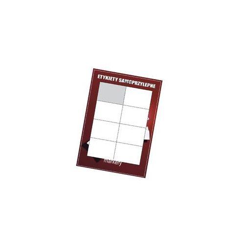 Etykiety samoprzylepne białe 105x74/8szt (100)
