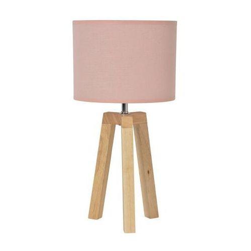 Stockholm-lampa stojąca statyw drewno naturalne & len wys.40cm marki Corep