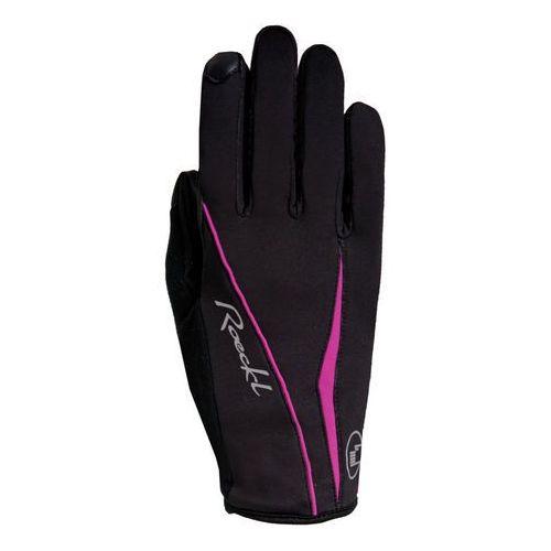 Roeckl wanda rękawiczka rowerowa kobiety różowy/czarny 7 2018 rękawiczki zimowe (4044791434800)