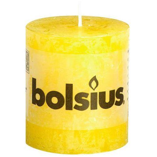 Bolsius Świeca pieńkowa rustic żółta wys. 8 cm (8717847106575)