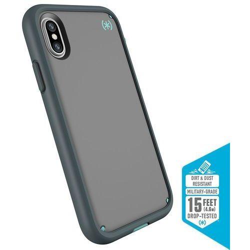 presidio ultra etui pancerne iphone x (sand grey/surf teal/mountainside grey) z uchwytem do paska & podstawka marki Speck